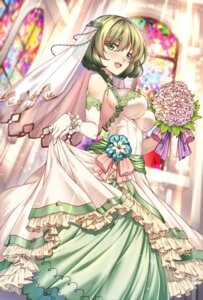 Rating: Safe Score: 35 Tags: dress merufena takagaki_kaede the_idolm@ster the_idolm@ster_cinderella_girls wedding_dress User: Mr_GT
