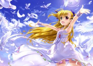 Rating: Safe Score: 55 Tags: dress fujima_takuya heterochromia mahou_shoujo_lyrical_nanoha mahou_shoujo_lyrical_nanoha_vivid see_through summer_dress vivio User: drop