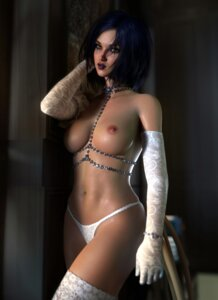 Rating: Questionable Score: 36 Tags: league_of_legends leblanc nipples pantsu sevenbees thighhighs topless User: Darkthought75