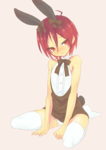 Rating: Questionable Score: 16 Tags: animal_ears bunny_ears free! matsuoka_rin pantsu tagme thighhighs trap User: Zenex