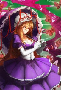 Rating: Safe Score: 23 Tags: cleavage dress orokanahime touhou umbrella yakumo_yukari User: Mr_GT