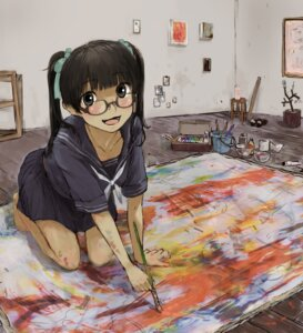 Rating: Safe Score: 9 Tags: megane nimirom seifuku User: Radioactive