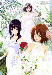 Rating: Safe Score: 83 Tags: dress hibike!_euphonium hisaishi_kanade ikeda_shouko kousaka_reina oumae_kumiko see_through wedding_dress User: drop