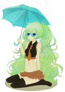 Rating: Safe Score: 10 Tags: hatsune_miku thighhighs vocaloid wogura User: Nekotsúh