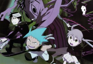 Rating: Safe Score: 8 Tags: black_star death_the_kid gap maka_albarn screening shinigami-sama soul_eater User: charunetra