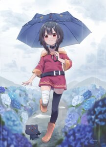 Rating: Safe Score: 29 Tags: bandages dress kono_subarashii_sekai_ni_shukufuku_wo! megumin neko nut_megu thighhighs umbrella User: Mr_GT