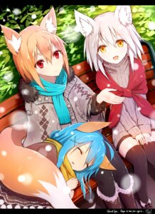 Rating: Safe Score: 53 Tags: animal_ears dress kitsune pantyhose sukemyon sweater tail thighhighs User: charunetra