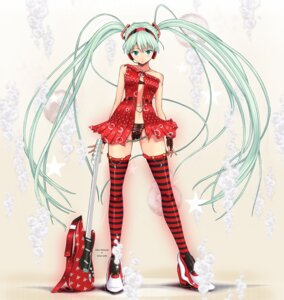 Rating: Questionable Score: 33 Tags: hatsune_miku hissatsukun_(ngqpb556) pantsu thighhighs vocaloid User: fireattack