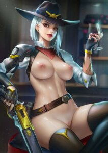 Rating: Explicit Score: 50 Tags: ashe_(overwatch) bottomless breasts gun nipples no_bra nudtawut_thongmai overwatch pussy tattoo thighhighs uncensored wet User: Keethaux