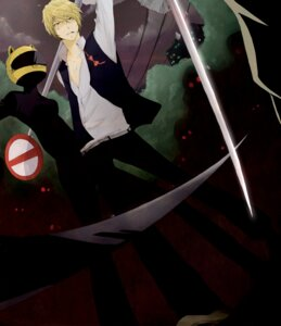 Rating: Safe Score: 7 Tags: celty_sturluson durarara!! futarou heiwajima_shizuo User: charunetra
