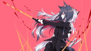 Rating: Safe Score: 15 Tags: animal_ears arknights blood business_suit lappland_(arknights) sheya sword tail texas_(arknights) User: Dreista