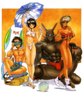 Rating: Questionable Score: 12 Tags: appleseed bikini briareos_hecatonchires cleavage deunan_knute hitomi_(appleseed) shirow_masamune swimsuits yoshitsune User: Wraith