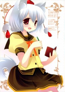 Rating: Safe Score: 15 Tags: animal_ears ichigosize inubashiri_momiji natsume_eri seifuku tail touhou User: Chrissues