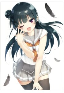 Rating: Safe Score: 52 Tags: love_live!_sunshine!! luminocity peco seifuku thighhighs tsushima_yoshiko User: Twinsenzw