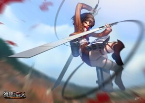 Rating: Safe Score: 32 Tags: mikasa_ackerman rheez shingeki_no_kyojin sword User: charunetra