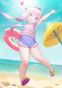 Rating: Safe Score: 5 Tags: kanna_kamui kobayashi-san_chi_no_maid_dragon swimsuits xiaoman_tu User: Mr_GT