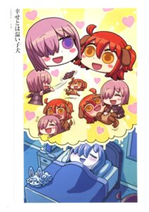 Rating: Questionable Score: 10 Tags: animal_ears chibi fate/grand_order female_protagonist_(fate/grand_order) fou_(fate/grand_order) mash_kyrielight riyo_(lyomsnpmp) yuri User: Saturn_V