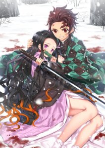 Rating: Safe Score: 21 Tags: blood japanese_clothes kamado_nezuko kamado_tanjirou kimetsu_no_yaiba sword swordsouls User: charunetra
