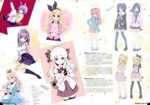 Rating: Safe Score: 44 Tags: character_design dress heels ohara_tometa qp:flapper sakura_koharu seifuku sketch thighhighs User: Hatsukoi