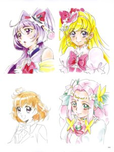 Rating: Safe Score: 5 Tags: asahina_mirai haa-chan_(precure) izayoi_riko mahou_girls_precure! pretty_cure sketch tagme User: drop