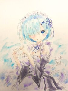 Rating: Safe Score: 9 Tags: cleavage color_issue maid nii_manabu re_zero_kara_hajimeru_isekai_seikatsu rem_(re_zero) sketch User: saemonnokami