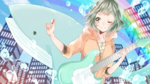 Rating: Safe Score: 17 Tags: 773_cream guitar gumi vocaloid User: Humanpinka