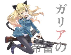 Rating: Safe Score: 20 Tags: animal_ears gun megane pantsu pantyhose perrine-h_clostermann strike_witches suzuki24 tail uniform User: Radioactive