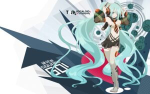 Rating: Safe Score: 30 Tags: hatsune_miku tansuke thighhighs vocaloid wallpaper User: Radioactive