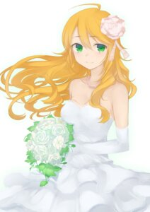 Rating: Safe Score: 39 Tags: dress hoshii_miki minazuki_randoseru the_idolm@ster wedding_dress User: ohenes