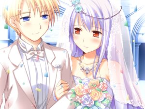 Rating: Safe Score: 13 Tags: chelsea_arcot dress game_cg ko~cha shukufuku_no_campanella wedding_dress windmill User: Radioactive