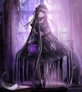 Rating: Safe Score: 21 Tags: dress fishnets gothic_lolita heels kazuharu_kina lolita_fashion tagme User: Dreista