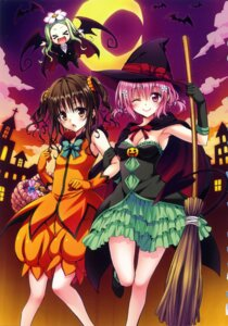 Rating: Safe Score: 65 Tags: chibi cleavage halloween momo_velia_deviluke tail to_love_ru wings witch yabuki_kentarou yuuki_mikan User: fireattack