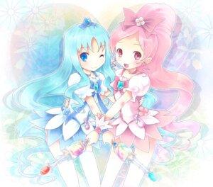 Rating: Safe Score: 15 Tags: hanasaki_tsubomi heartcatch_pretty_cure! kurumi_erika michii_yuuki pretty_cure thighhighs User: Radioactive