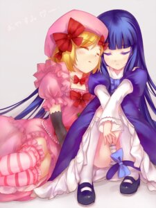 Rating: Questionable Score: 20 Tags: frederica_bernkastel lambdadelta pantsu s.advent shimapan tail umineko_no_naku_koro_ni User: 洛井夏石