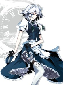Rating: Safe Score: 45 Tags: hong_(white_spider) izayoi_sakuya maid thighhighs touhou User: hobbito