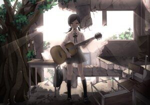 Rating: Safe Score: 29 Tags: guitar gumi sakura_yuki seifuku vocaloid User: dyj
