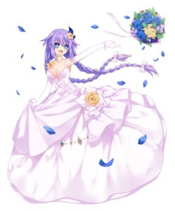Rating: Safe Score: 35 Tags: choujigen_game_neptune dress neps-l no_bra purple_heart wedding_dress User: Nepcoheart
