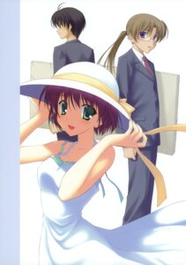 Rating: Safe Score: 9 Tags: business_suit canvas_2 dress kikyou_kiri megane nanao_naru summer_dress User: crim