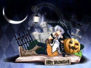 Rating: Safe Score: 11 Tags: halloween wallpaper witch yuuki_eishi User: fairyren