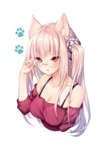 Rating: Safe Score: 66 Tags: animal_ears cleavage endyy megane User: Mr_GT