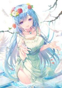 Rating: Questionable Score: 11 Tags: dress emori_miku emori_miku_project miwabe_sakura summer_dress User: Radioactive