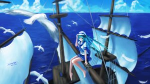 Rating: Questionable Score: 20 Tags: feet hatsune_miku landscape seifuku sombernight vocaloid User: gnarf1975