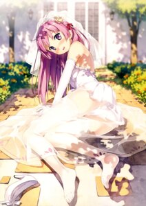 Rating: Questionable Score: 287 Tags: 5_nenme_no_houkago dress feet fuyuumi_ai kantoku ore_no_kanojo_to_osananajimi_ga_shuraba_sugiru pantsu see_through thighhighs wedding_dress User: Hatsukoi
