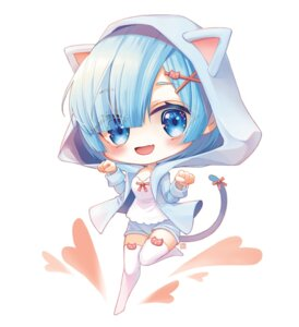 Rating: Questionable Score: 19 Tags: animal_ears chibi jii_dayday nekomimi re_zero_kara_hajimeru_isekai_seikatsu rem_(re_zero) tail thighhighs User: Dreista