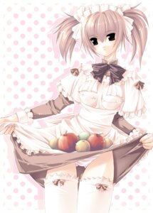 Rating: Questionable Score: 18 Tags: g.t.f jian maid pantsu shimapan skirt_lift thighhighs User: admin2