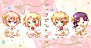 Rating: Safe Score: 10 Tags: chibi china hetalia_axis_powers pajama poland russia tsukimi united_kingdom User: fireattack
