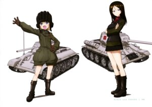 Rating: Safe Score: 18 Tags: breast_hold girls_und_panzer katyusha nonna uniform User: drop