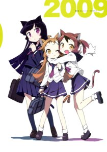 Rating: Safe Score: 25 Tags: animal_ears gokou_ruri kanzaki_hiro neko_sis nekomimi seifuku tail User: Anonymous