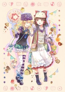 Rating: Safe Score: 29 Tags: ekita_gen hakurei_reimu kirisame_marisa thighhighs touhou User: Mr_GT