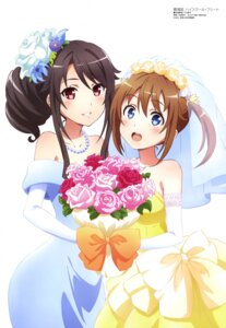 Rating: Safe Score: 38 Tags: dress high_school_fleet kimiya_ryousuke misaki_akeno munetani_mashiro wedding_dress yuri User: drop